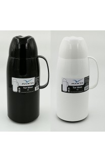 "TERMO ""TOP WAVE"" 1 LITRO   BLANCO / NEGRO"